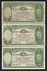 Australia R-32. (1952) One Pound - Coombs/Wilson.. George VI x 3 Notes.