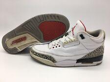 Nike Air Jordan III 3 Retro White/Fire Red-Cement Grey-Black 136064-105 SZ 11