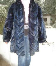 Pelzjacke Pelzmantel dunkel blau Fuchs echt Pelz Blaufuchs
