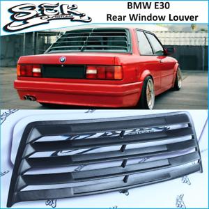 BMW 3 Series E30 Rear Window Louver ,ABS Plastic Window Grills Fits : 2 /4 doors