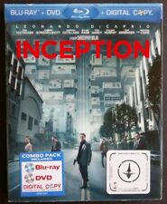Inception (3-Disc Blu-ray/DVD, 2010) Like New  w/ Lenticular Slip  Leo DiCaprio