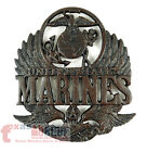 United States Marines Cast Iron Trivet Wall Plaque Eagle Military Decor 8 3/8 in