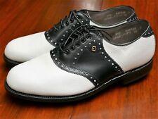 FootJoy Classics 51797 White Black Saddle 8.5 D Golf Shoes NEW
