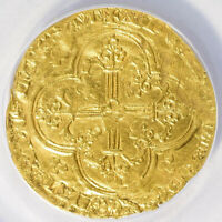 Franc à cheval 1360-64 France Jean II le Bon Gold Duplessy-294 ANACS VF25