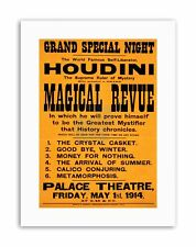 THEATRE VAUDEVILLE HOUDINI ESCAPOLOGY MAGIC USA Poster Vintage Canvas art Prints