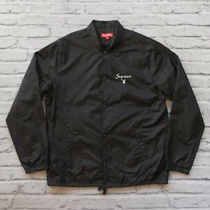 2011 Supreme x Playboy Coaches Jacket Size L Black