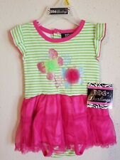 Infant Girl Two Piece Tutu Outfit Size 6 To 9 Months!