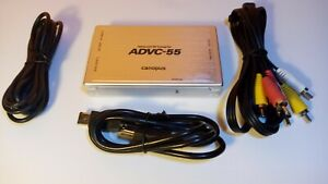 Canopus ADVC-55 Advanced Analog to Digital Video Converter with Warranty 110 100