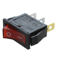 1X(Interrupteur a bascule ON OFF Lumineux Bipolaire 28x10mm 250V 15A ROUGE 3 f5