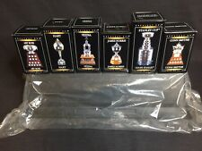 McDONALDS NHL COMPLETE SET 6 MINI TROPHIES NEW SEALED With BAGED STAND CUP
