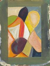 ABSTRACT STUDY Small Oil Painting On Board c1970