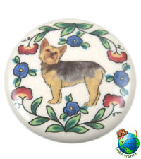 Yorkie Dog Wine Bottle Stopper Hand Painted Puppy Cut