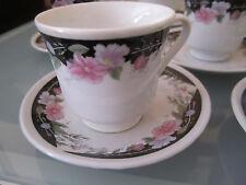 6er-Set Porzellan Espresso~Mokkatasse~kleine Tassen~Sammeltassen~Blumen