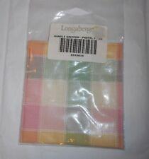LONGABERGER BASKET FABRIC PASTEL PLAID PRINT PAN / POT HANDLE GRIPPER 2249848