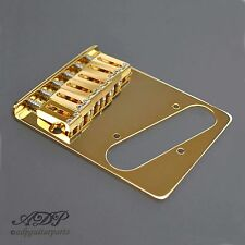 CORDIER CHEVALET TELECASTER GOTOH 6 x Brass Saddles Tele Bridge GOLD GTC201G