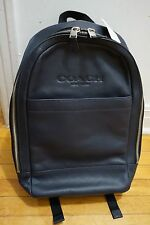 NWT Coach Men's Charles Slim Backpack In Sport Calf Leather F54135 Midnight Blue