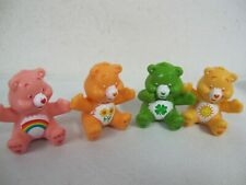 "Care Bears Pvc Mini Figures (4) 1 1/2"" Cake Toppers Sitting"