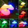 LED Mushroom Bedside Night Light Sensor Control Wall Plug-in Lamp Kid Home Decor