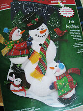 Dimensions Christmas Felt Applique Holiday Stocking Kit,Snowman Fun,8146,18""