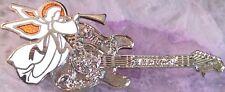Hard Rock Cafe GUANGZHOU 1999 Christmas PIN Silver GUITAR White Angel HRC #2736