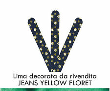 Miss Ky Lima Decorata JEANS YELLOW FLORET Professional Products by KyLua Italy