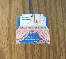 Made For 1950's Ideal HARRIET HUBBARD AYER doll, A WRIST hang TAG
