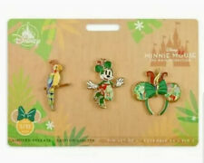 Disney Minnie Mouse Main Attraction Pin Set Tiki Bird Room Limited Release 5 NEW
