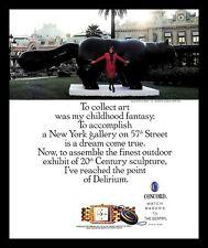 1990 Concord Delirium Watch Vintage PRINT AD Marisa Del Re Botero Cat Sculpture