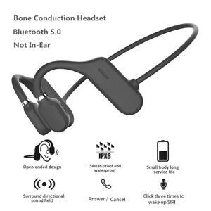 Casque à conduction osseuse écouteurs Bluetooth 5.0 sans fil IPX6 étanche