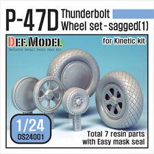 Def. modelo, DS24001, P-47D Thunderbolt Rueda Set (1) para cinética