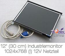 """12"""" 30.5cm 1024x768 POS industriali corre monitor 12v Alimentazione per Auto Barca"""