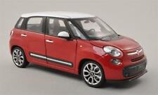 Fiat 500L 2012 Red With Roof White 1:24 Welly WE0208