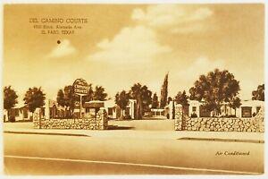Del Camino Courts El Paso Texas Postcard