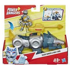 Playskool Heroes Power Rangers Silver Ranger and Wolf Zord