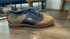 90s Vintage Bass Saddle/Oxford Suede & Leather Shoes Size 7 Women's