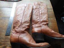womens Larry Mahans buckaroo boots size 7 vintage calfskin