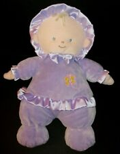 Animal Alley Purple Plush Baby Doll Butterfly Blonde Blue Eyes Soft Stuffed Toy