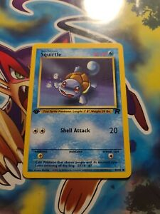 Pokemon Card Squirtle 66/82 - Team Rocket 1st Edition - Nr Mint