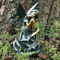 Large Fairy Figurine Statue Ornament  Garden Patio Home Hand Painted Antique