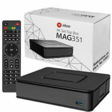 Infomir MAG 351 Set Top Box IPTV Linux 4K UHD HEVC - In-built Wifi/Bluetooth