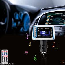 "1.44"" LCD Wireless FM Transmitter Auto MP3 Player TF Card USB Drive Remote DE"