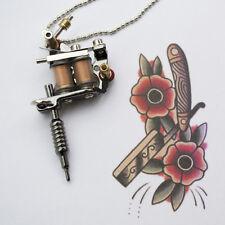 Collana da uomo in acciaio con ciondolo TATTOO machine macchinetta tatuaggi ink