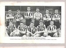 Team Pic from 1959-60 Football Annual - PORT VALE - Division 4 Winners