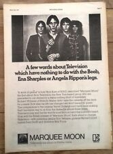 TELEVISON Marquee Moon 1977 ORIGINAL Poster size ADVERT size:16x12 inches