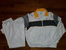 Men's VTG Lacoste Sport White and gray Tracksuit Sweatsuit sz 40 XL Rare 7/192