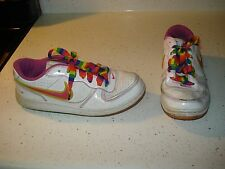 Nike Air Indee Rainbow Low Girls Athletic Shoes Size 5.5 Y L@@K ! WHITE PINK