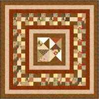 """CHOCOLATE BOX - 49"""" x 49"""" - Pre-cut Quilt Kit by Quilt-Addicts Lap size"""
