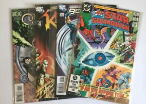 JobLot of 4x DC Comics/ All Star Squadron/ Booster/ Cyberella/ Klarion/'80s '90s
