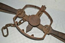 ANTIQUE NEWHOUSE ONEIDA COMMUNITY N.Y. NO. 5 BEAR TRAP WALL HANGER-FIXED DISPLAY