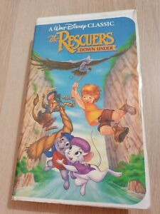 Walt Disney Black Diamond Classics The Rescuers Down Under 1991 VHS NTSC